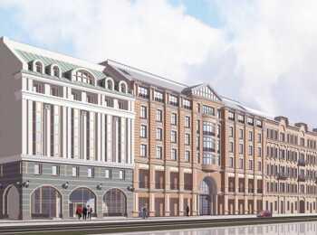 Общий вид на апарт-отель Лиговский 56